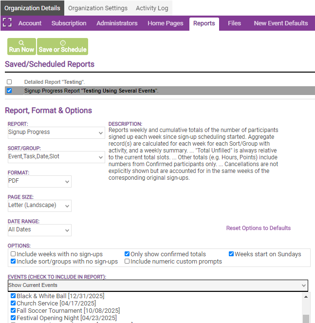 administrative reports