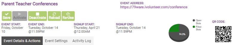event info pane