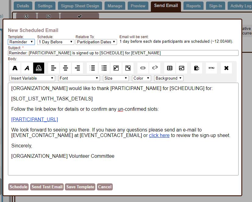send email tab